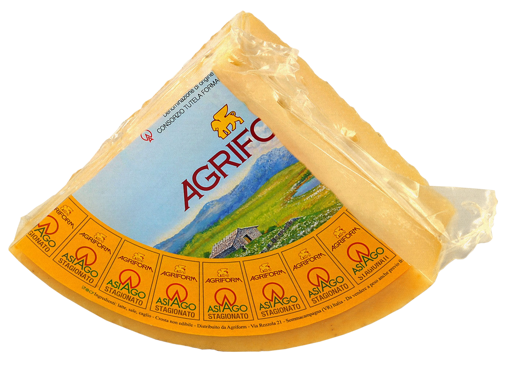 Vacuum packed Asiago Stagionato