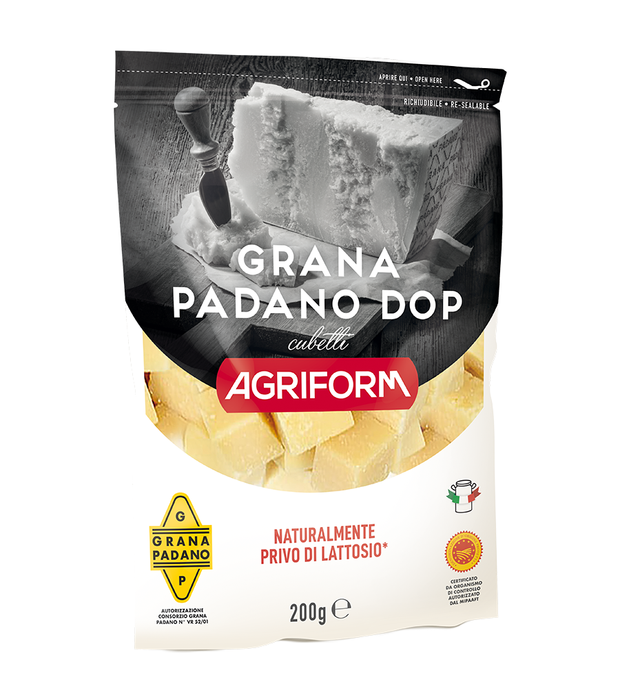 Grana Padano: Grated and cubes