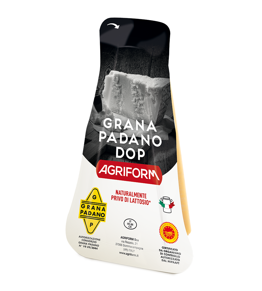 Grana Padano with thermoformed package